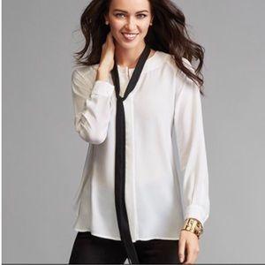 CAbi 3421 Tuxedo Blouse size Small